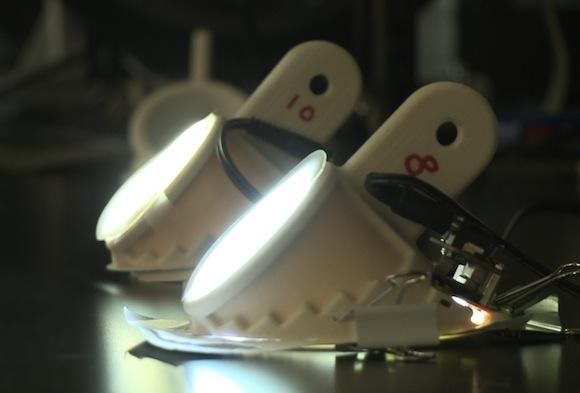 LED - nanovlákna - žárovky