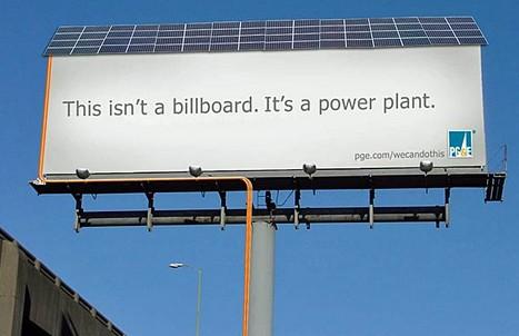 Billboard se solární elektrárnou