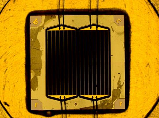 solární články vyrobené na Fraunhoferově institutu - dosud nejvyšší účinnost