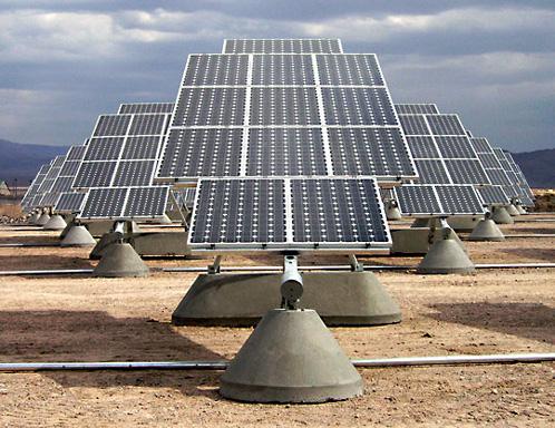 Solární panel u základny Nellis