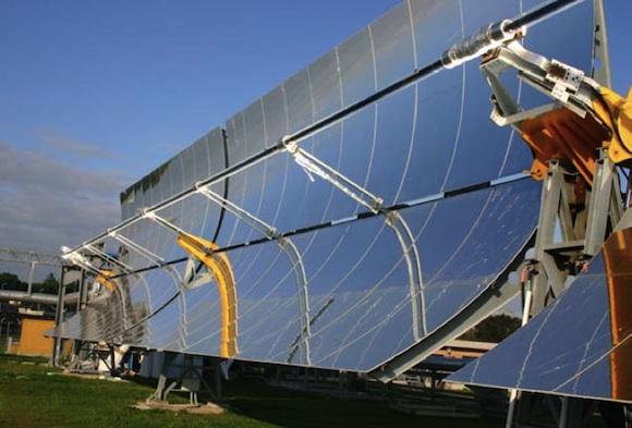 solární elektrárny - Itálie Sicílie - solární koncentrační elektrárna Archimédes