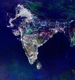 Indie - využití solární energie - např. osvětlení