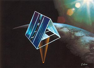 Solární energie - vesmírné elektrárny - testovací satelit JAXA SPS2000