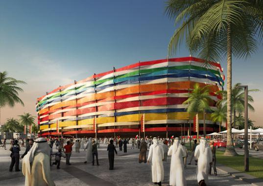 Solární energie - Katar - mistrovství světa ve fotbale - stadion