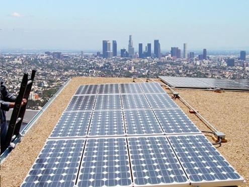 Los Angeles - solární panely
