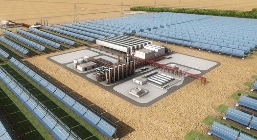 solární energie - Shams - koncentrační solární elektrárna