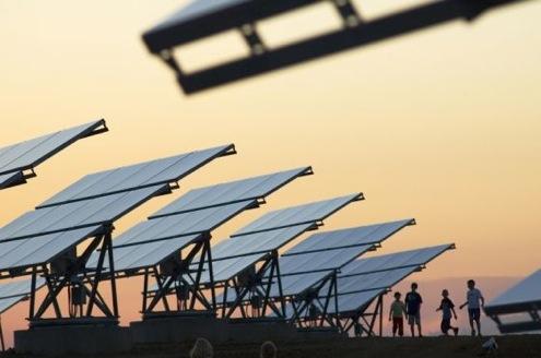 Sluneční solární panely