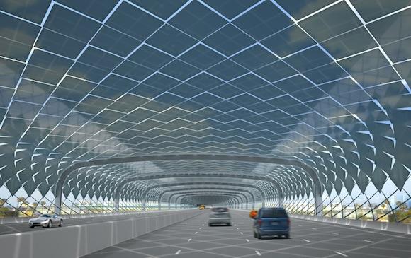 solární energie - solární dálnice