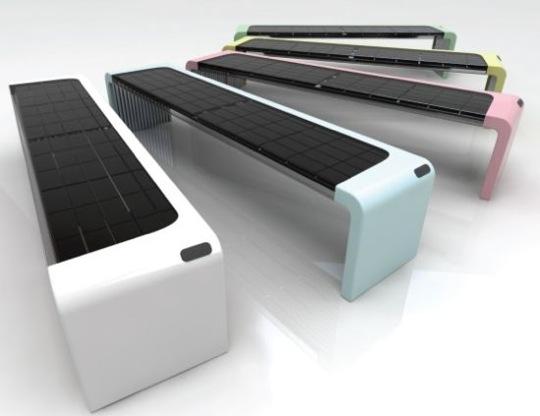 solární lavička