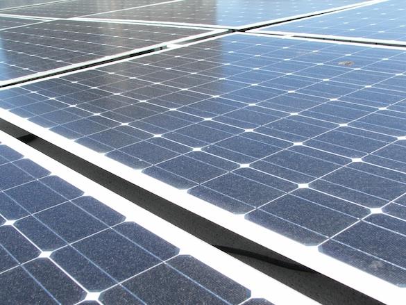 Solární energie - solární panely elektrárny