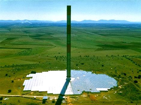 solární-větrná elektrárna - Solar Tower (solární věž)