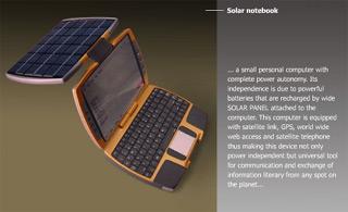 solární notebook