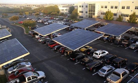 solární panely - Dell - Parkoviště