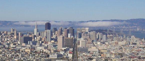 Spojené státy americké Města Market Street San Francisko from Twin Peaks