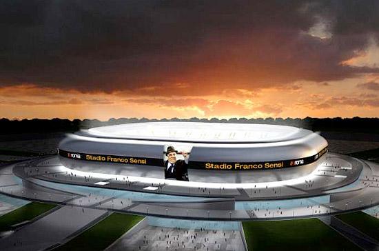 sportovní stadiony - Řím - Franco Sensi - Gino Zavanelia