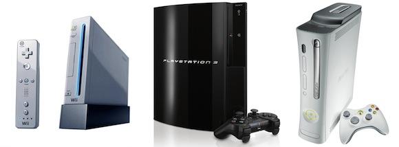 spotřebiče - herní konzole Nintendo Wii PlayStation 3 Xbox 360