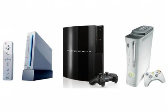 herní konzole PlayStation 3, Wii, Xbox 360