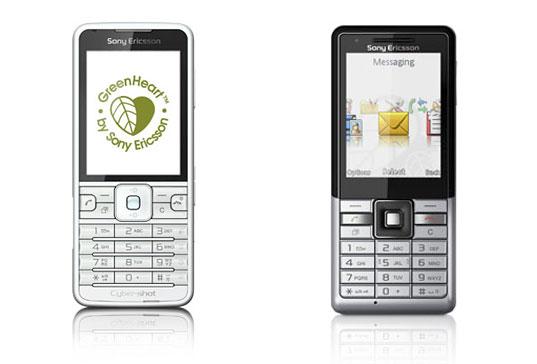 recykovatelné mobilní telefony Sony Ericsson