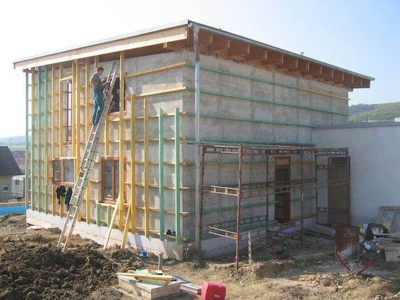 stavba pasivního domu - zateplení