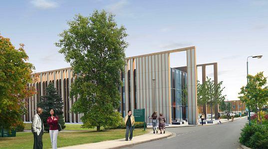 stavby ze slámy - Univerzita v Nottinghamu - nová budova