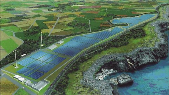 Toshiba - fotovoltaická elektrárna