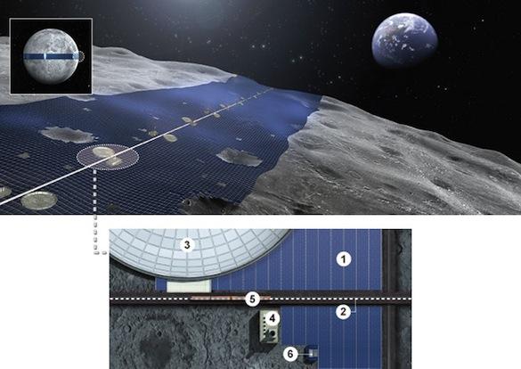 Vesmír - Luna Ring - solární elektrárna na Měsíci