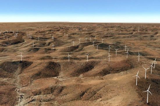 Austrálie - větrná farma