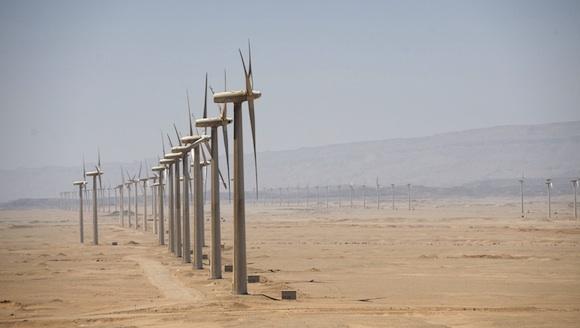 Větrná energie - Egypt - Zafarana - větrné turbíny