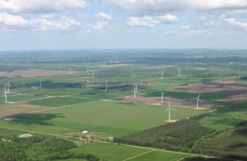 Větrná energie - Kanada - Ontario - větrné farmy
