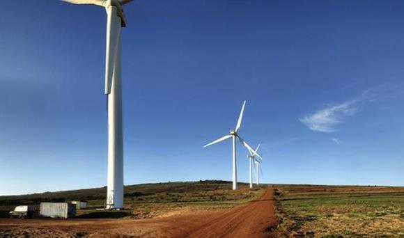 Větrná energie - Maroko - větrná farma Melloussa