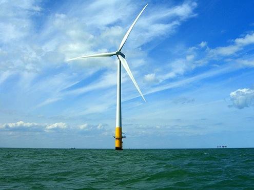 pobřežní větrná turbína