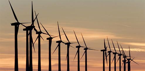 Větrné elektrárny v Číně