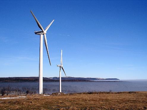 Větrné elektrárny - Nová Ves v Horách
