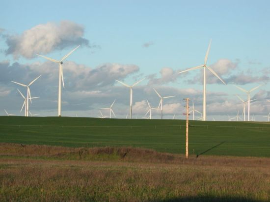 Větrné farmy Austrálie