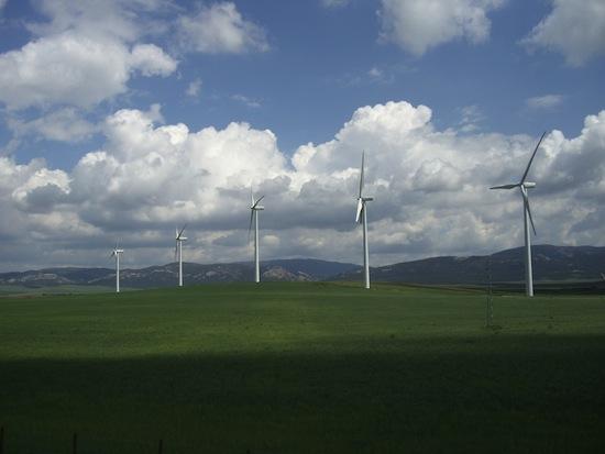 větrné farmy a turbíny - Španělsko