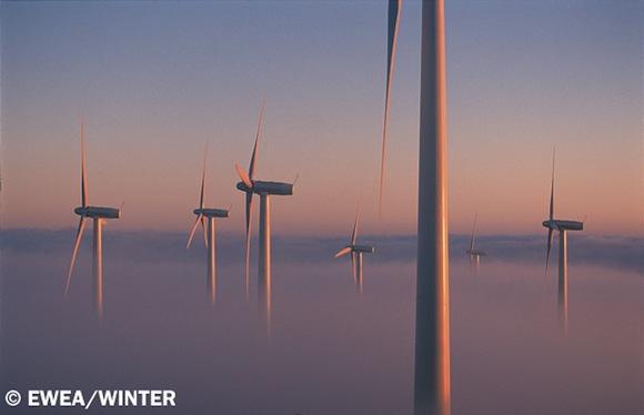 větrná energie - větrné turbíny