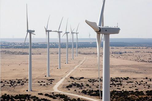 větrné elektrárny v Texasu