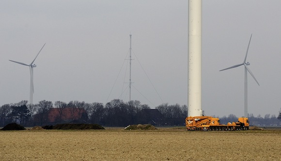 větrné elektrárny GE vyšší stožáry pro větrné turbíny