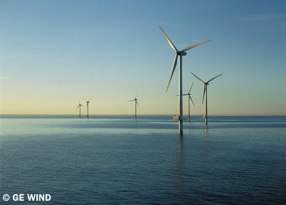 větrné elektrárny - pobřežní větrné turbíny