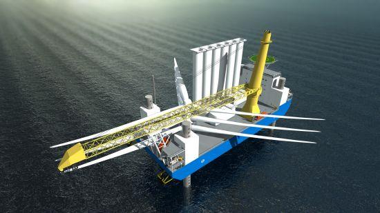 větrné farmy - Daewoo - loď