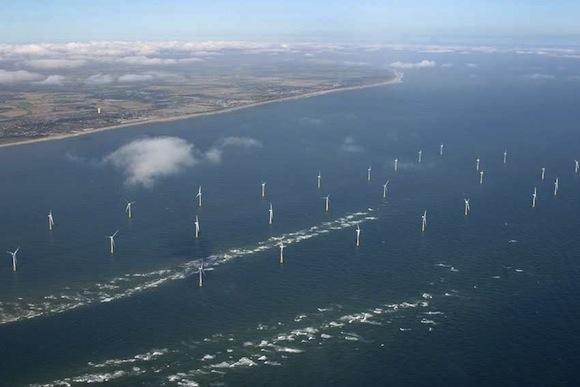 větrné farmy - pobřežní větrné elektrárny
