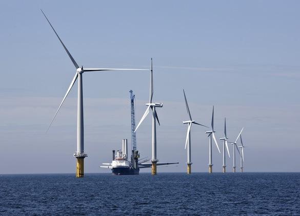 větrné farmy - Siemens - pobřežní větrné turbíny - stavba