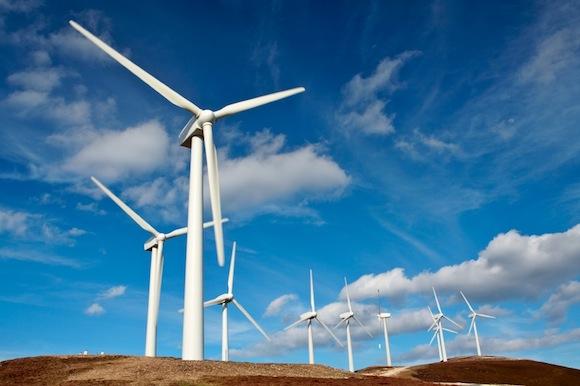 větrné farmy - větrné turbíny