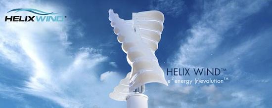větrné turbíny Helix Wind