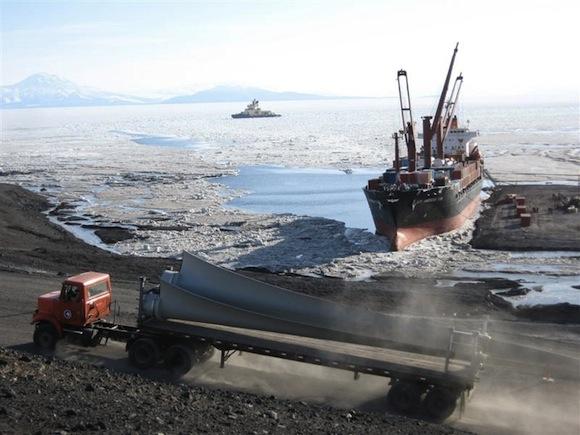 větrné turbíny - Meridian Energy - Antarktida