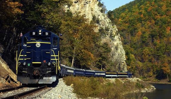 Západní Virginie - vlak železnice - Potomac Eagle