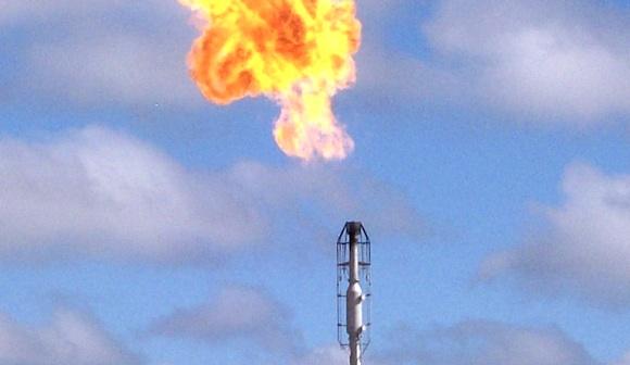 zemní plyn hoření