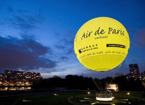 Balon měřící kvalitu ovzduší v Paříži